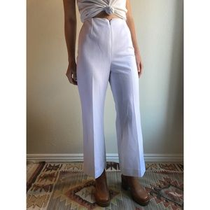 [vintage] 70s white high waist kick flares